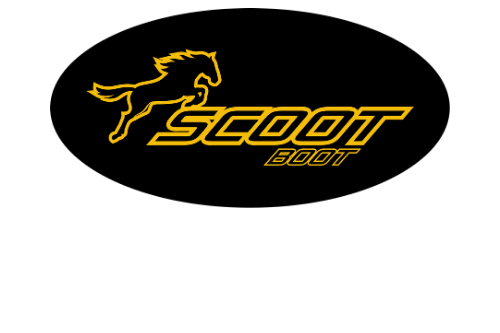 Scoot Boot label